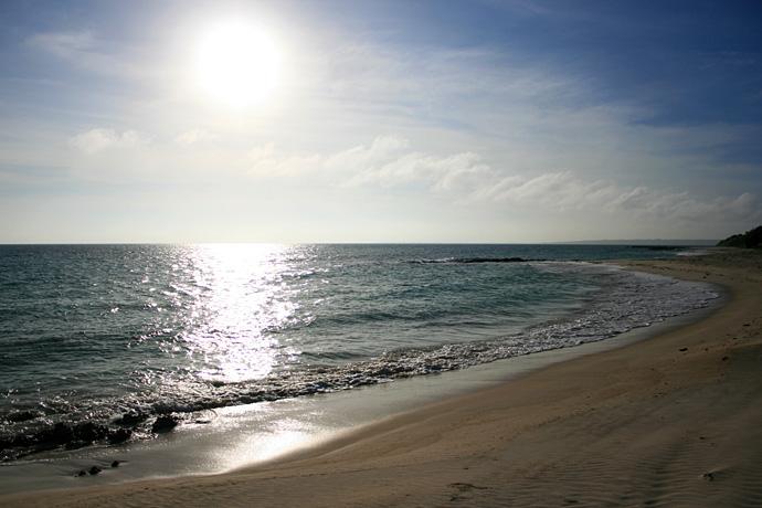 夕陽を見に海へ
