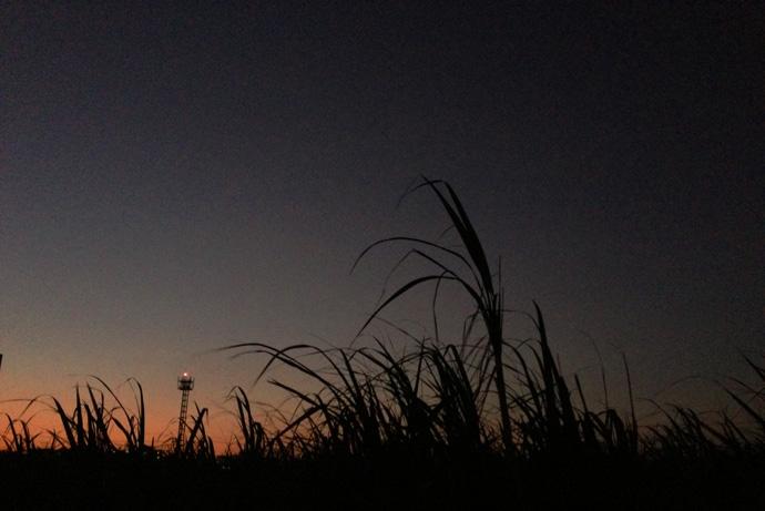 お天気の良い日は夕陽のグラデーションがきれい