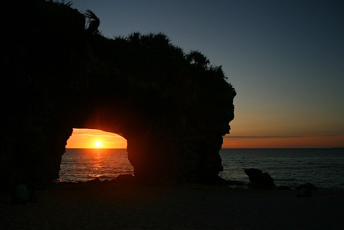 砂山ビーチの夕陽