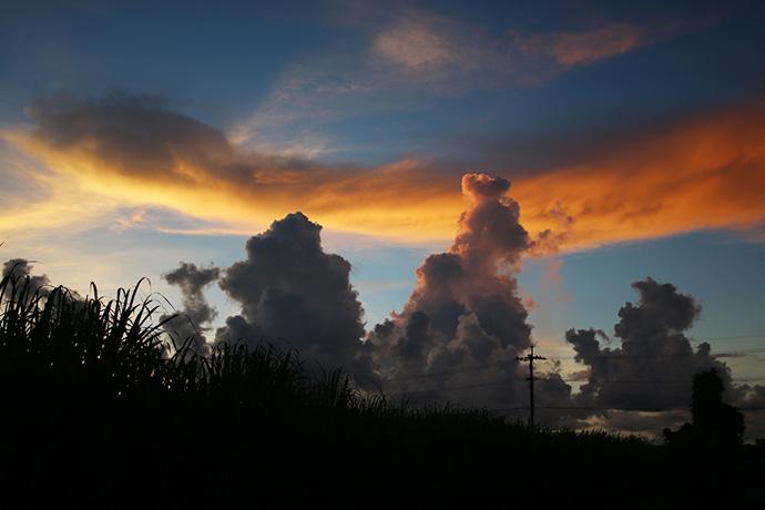 雲がダイナミックだぜ