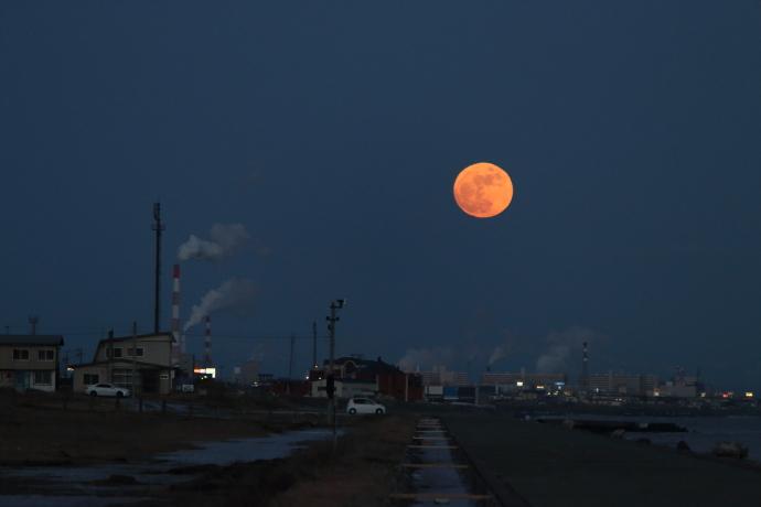 北海道の満月