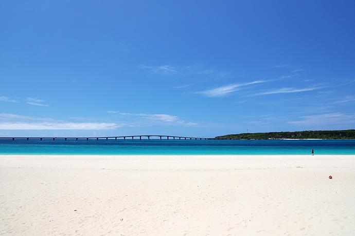 観光客の居ない前浜ビーチ