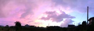 台風前の夕焼け