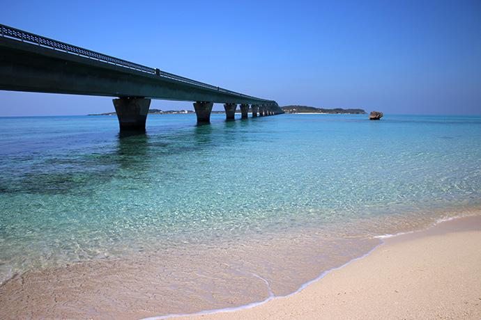 池間大橋、宮古島側のふもと