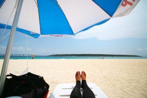 前浜ビーチでリゾッチャ